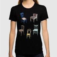 Chairs Number 2 Womens Fitted Tee Black SMALL