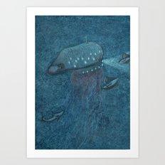 Jellyfish Submarine Art Print