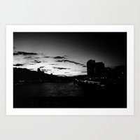 black city.  Art Print