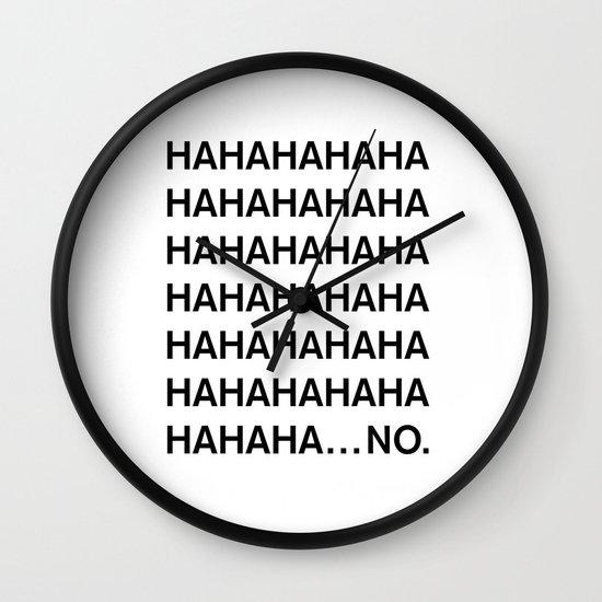 HAHA Wall Clock