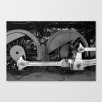 Train Parts - Wheels Canvas Print
