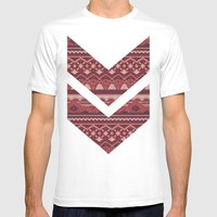 CRYSTAL AZTEC   Mens Fitted Tee White SMALL