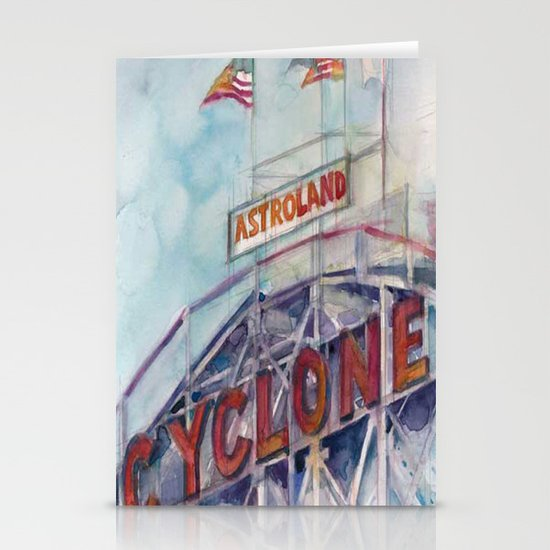 Cyclone Watercolor Stationery Card