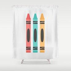 #94 Crayon Shower Curtain
