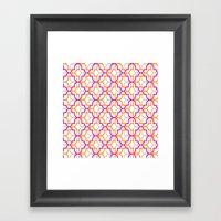 Moroccan Trellis Overlap… Framed Art Print