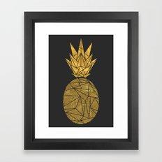 Bullion Rays Pineapple Framed Art Print