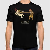Yoga. Mens Fitted Tee Black SMALL
