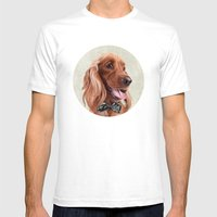 Mr. English Cocker Spaniel Mens Fitted Tee White SMALL