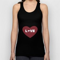 Love Heart Unisex Tank Top