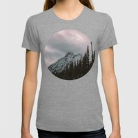 Mountain Love Womens Fitted Tee Tri-Grey SMALL