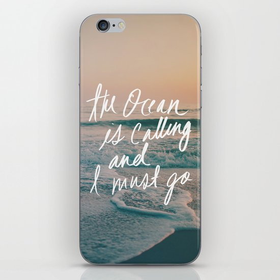 The Ocean is Calling by Laura Ruth and Leah Flores iPhone & iPod Skin