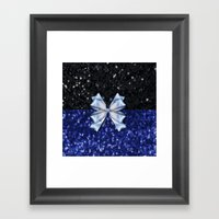 Brilliant Black and Blue  Framed Art Print