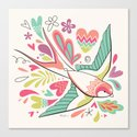 spring swallow Canvas Print