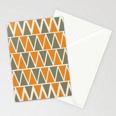 Green And Orange Triangles  Stationery Cards