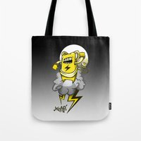 StormBot - Yellow Robot Tote Bag