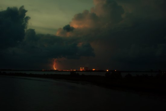 Lightning Meets Nuclear Plant Art Print