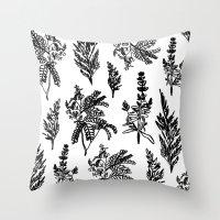 Fleur Noir Throw Pillow