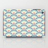 rainbowaves pattern (light) iPad Case