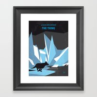 No466 My The Thing minimal movie poster Framed Art Print