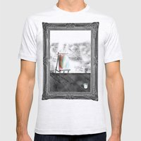 Opportunity Awaits Mens Fitted Tee Ash Grey SMALL