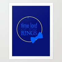 Time Lord Of The Rings Art Print