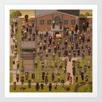 Super Walking Dead: Pris… Art Print