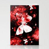 Butterfly Splatter Stationery Cards
