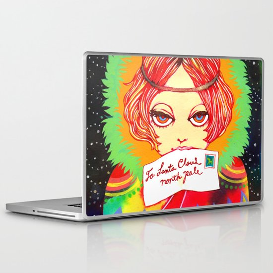 Don't forget to write to Santa Claus Laptop & iPad Skin