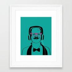 Hipsterstein Framed Art Print