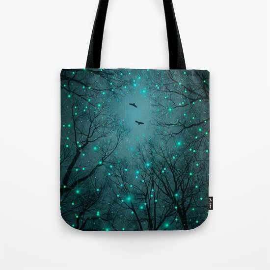 Silently, One by One, the Infinite Stars Blossomed (Geometric Stars Remix) Tote Bag