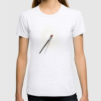 Blank Canvas - Painting Womens Fitted Tee Ash Grey SMALL