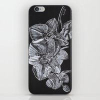 Silver Orchid iPhone & iPod Skin