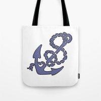 Blue Anchor Tote Bag