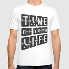 Time of Your Life SMALL Mens Fitted Tee White