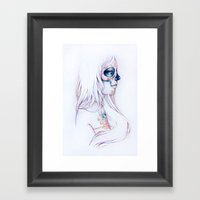 Between Lines Is Silence Framed Art Print