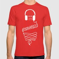 Possessed by the Beat (black) Mens Fitted Tee Red SMALL