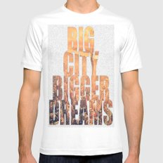 Big City Dreams Mens Fitted Tee White SMALL