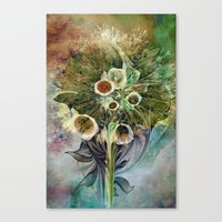Fractal Bouquet - Color … Canvas Print