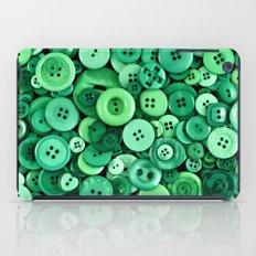 Button Green iPad Case