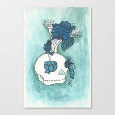 skull bloom Canvas Print