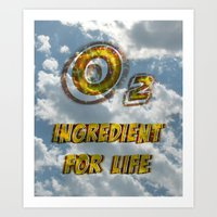 Oxygen Ingredient For Li… Art Print