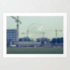 city bubble Art Print