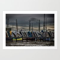 Yacht Club Art Print
