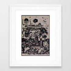 contacto real Framed Art Print