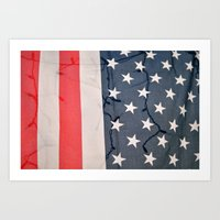 Flag Lights Art Print