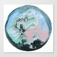 Marble water Ball Canvas Print