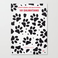No229 My 101 Dalmatians minimal movie poster Canvas Print