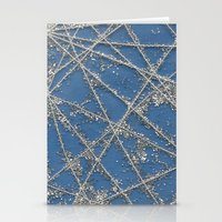 Sparkle Net Blue Stationery Cards