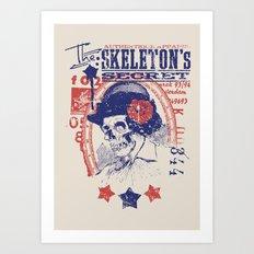Skeleton's secret Art Print