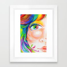 rainbow haired Framed Art Print